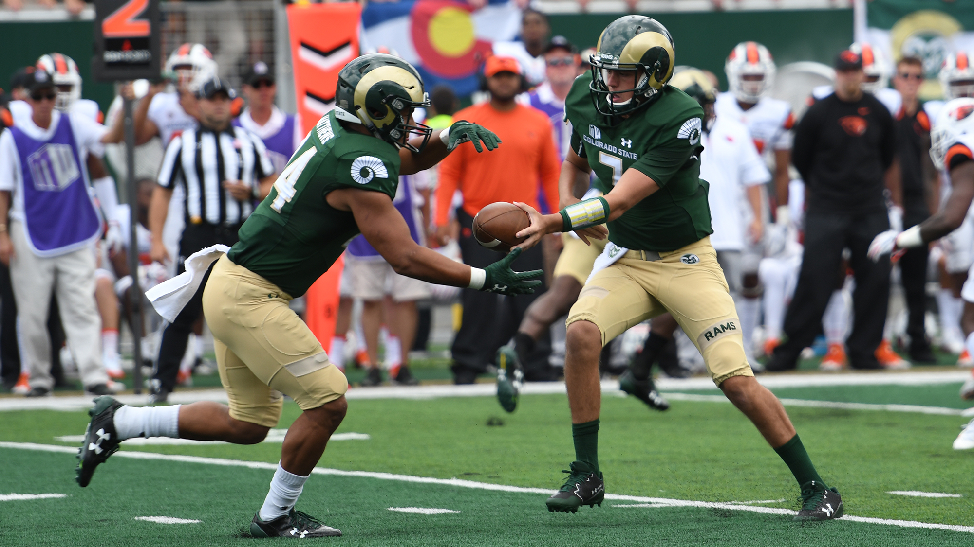 rams offense producing at record pace through seven games colorado state university athletics