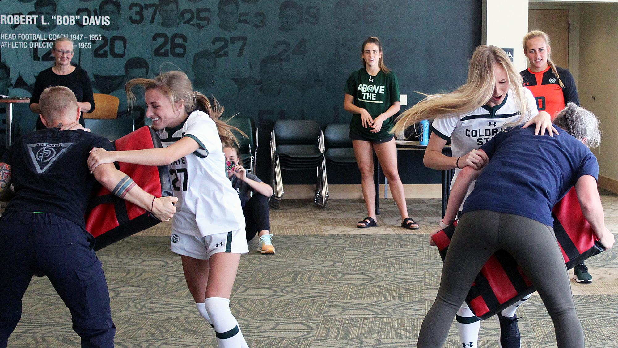 Female student-athletes instructed in safety strategies